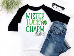 Boy's Personalized Mister Lucky Charm St. Patrick's Day Outfit