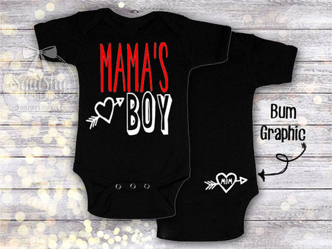 Mama's Boy Boys Valentine's Mother's Day Top