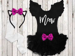 Girl's Meow Halloween Cat Outfit