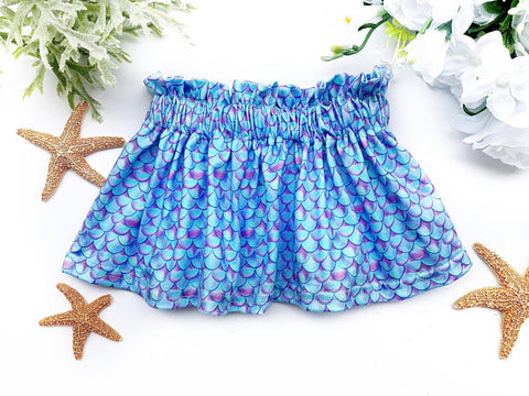 Girl's Mermaid Scale Twirl Skirt