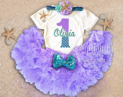 Mermaid Birthday Skirt Outfit