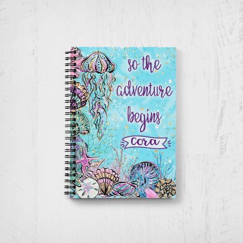 Girl's Personalized Mermaid Notebook