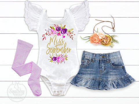 Girl's Miss September Birthday Outfit