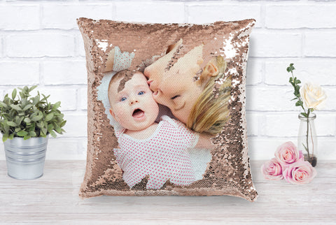 Mother's Day Personalized Photo Sequin Pillow