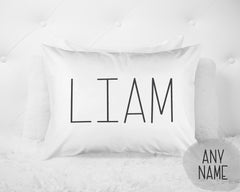 Boy's Print Personalized Name Pillow Case