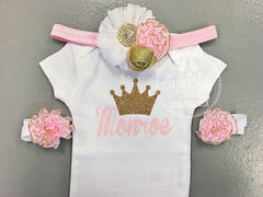 Personalized Princess Name With Crown Outfit