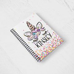 Girl's Personalized Unicorn Notebook