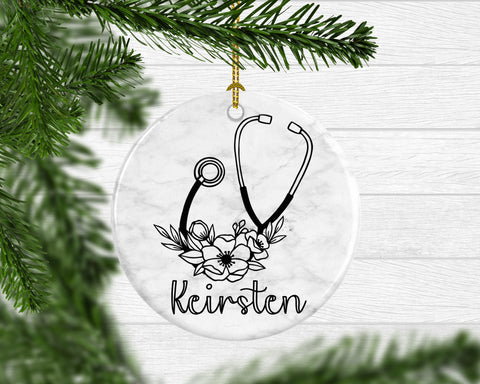 Personalized Nurse Gift Decorative Ornament