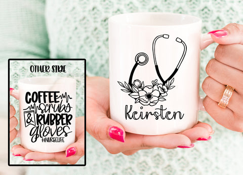 Personalized Nurse Coffee Mug