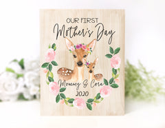 Our First Mother's Day Wood Plaque Keepsake