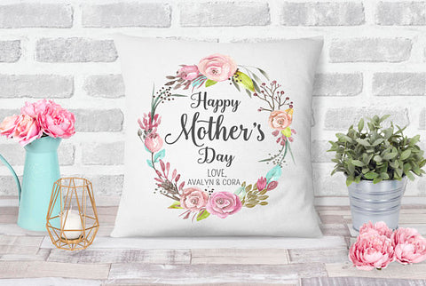 Personalized Happy Mother's Day Keepsake Pillow Case