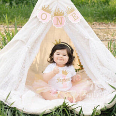 Pink and Gold Birthday Princess Tutu Outfit - AVAILABLE FOR ANY AGE