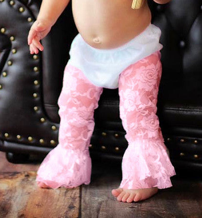 CLEARANCE Pink Lace Leggings