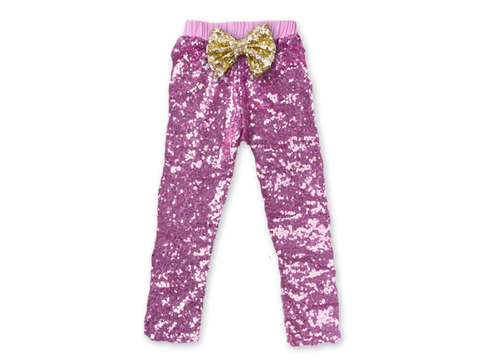 Girl's Pink Sequin Pants