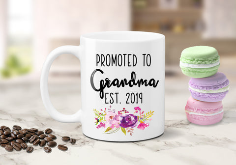Promoted To Grandma Announcement Mug
