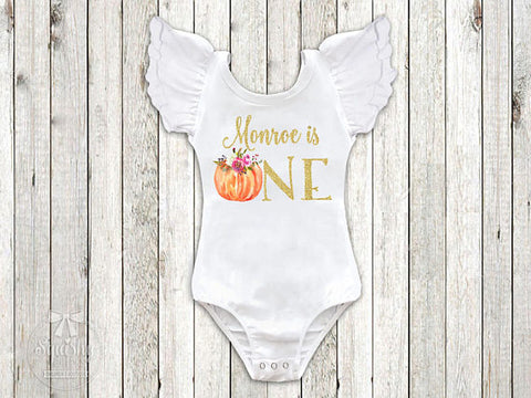 Girl's Personalized Pumpkin Birthday Top