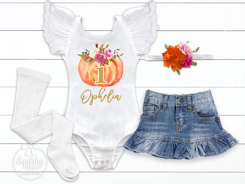 Personalized Pumpkin Birthday Outfit