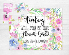 Personalized Flower Girl Proposal Puzzle