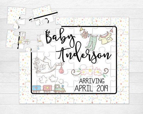 Personalized Baby Announcement Puzzle