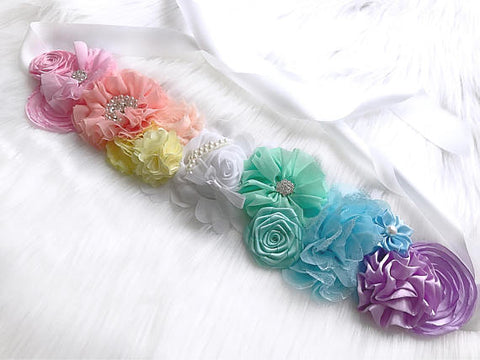 Rainbow Maternity Sash