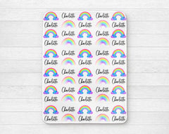 Girl's Personalized Rainbow Swaddle Blanket