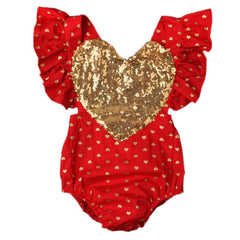 Valentine's Day Heart Bubble Romper