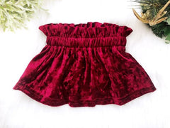 Girl's Red Velvet Skirt