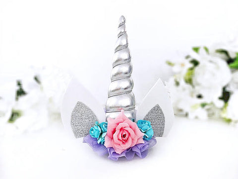Silver Unicorn Headband or Hair Clip