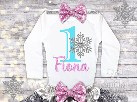 Snowflake Frozen Birthday Top