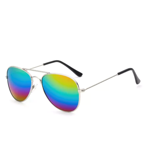 Rainbow Ombre Aviator Sunglasses