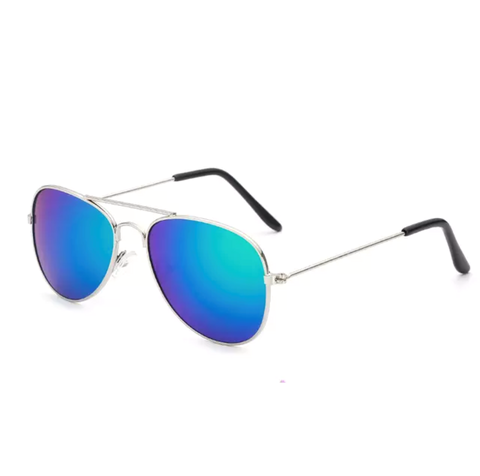 Blue Ombre Aviator Sunglasses