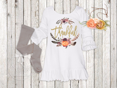 Girl's Thankful Dress Outfit