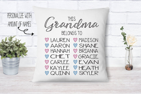 Personalized Grandma Belongs To Pillow