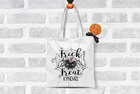 Personalized Trick or Treat Halloween Bag
