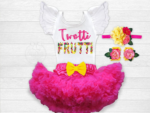 Girl's Twotti Frutti 2nd Birthday Outfit