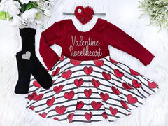 Girl's Personalized Valentine's Day Twirl Dress