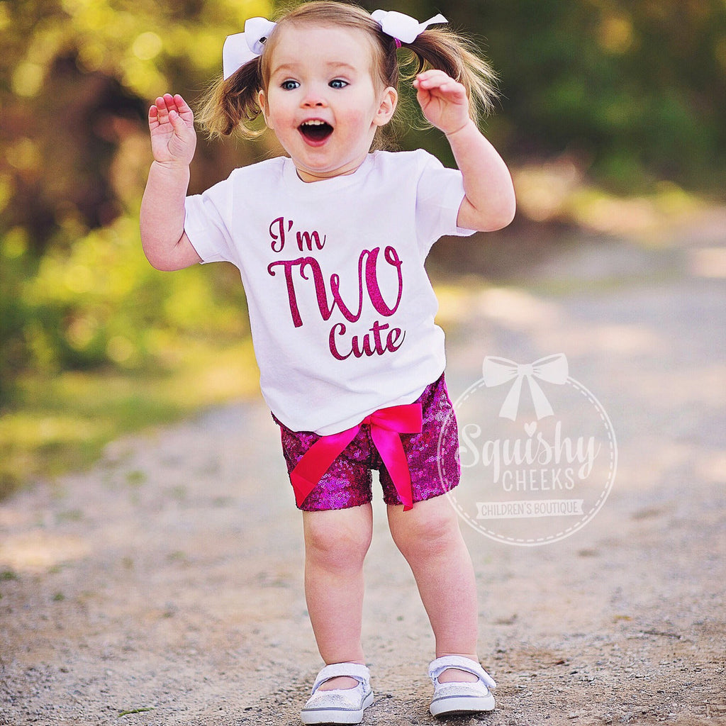 111e5ea11 I'm Two Cute 2nd Birthday Outfit – Squishy Cheeks