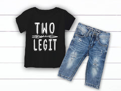 Boy's Two Legit Second  Birthday Outfit