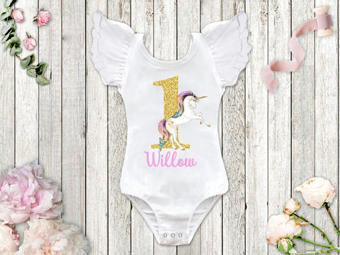 Unicorn Birthday Top