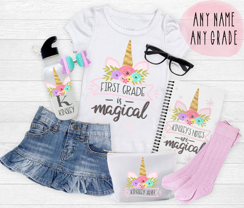 Girl's Back to School Unicorn Set