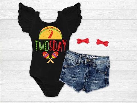 Girl's Taco Twosday Birthday Outfit