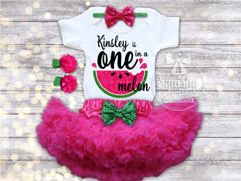 Girl's One in a Melon Birthday Outfit