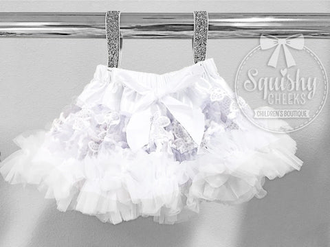 BLOWOUT: White Lace Fluffy Petti Skirt
