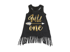 Girl's Wild One Boho Birthday Fringe Dress