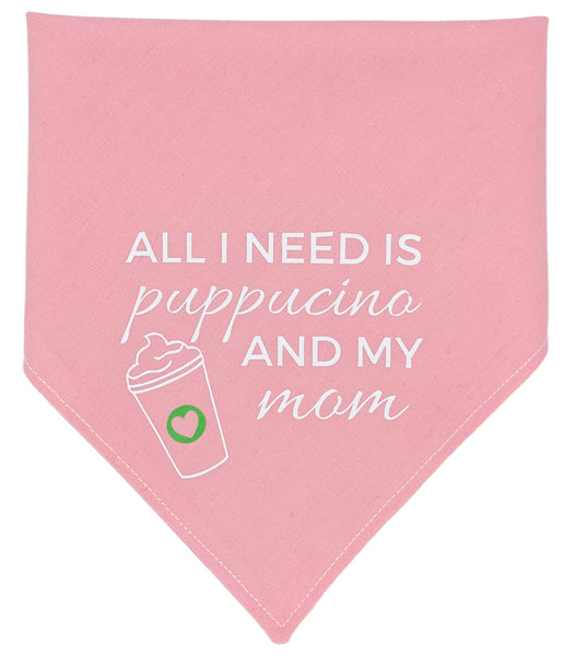 All I Need Is Puppucino Reversible Dog Bandana