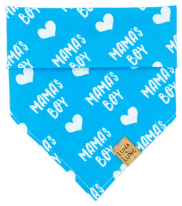 Blue Dog Bandana Mama's Boy Text