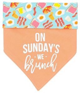 On Sundays We Brunch Reversible Dog Bandana