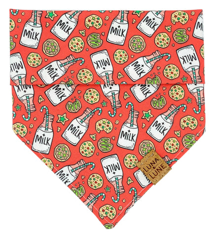 Milk and Cookies Dog Bandana