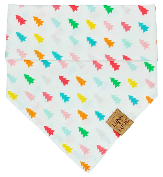 Rainbow Christmas Trees Dog Bandana