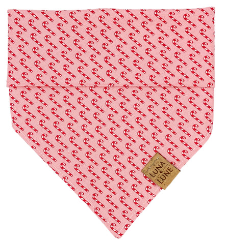 Candy Cane Pattern Dog Bandana